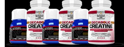 Testo Alabolic Extreme and Decabolic Creatine Value Bottles