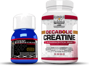 Testo Extreme Anabolic and Decabolic Creatine Bottles