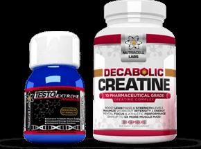 Testo Extreme Anabolic and Decabolic Creatine Bottles