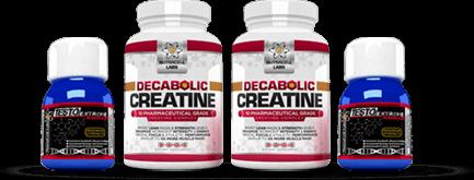 2 Testo Extreme Anabolic and 2 Decabolic Creatine Bottles